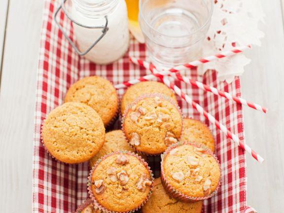 Kürbismuffins mit Apfel